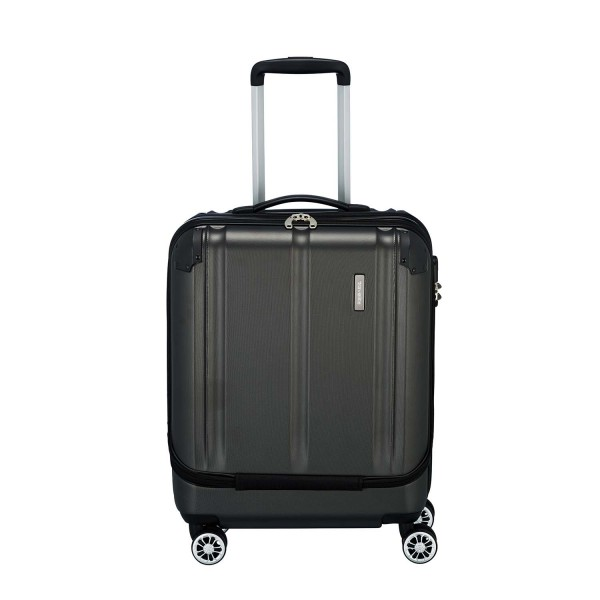 Travelite City 4-Rollen Bordtrolley S mit Vortasche